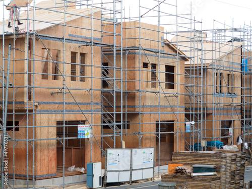 建築中の木造住宅