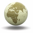 Political world globe. 3d