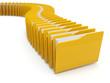 Row of computer yellow folders