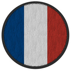 Ecusson du drapeau d France