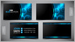 Vector abstract creative business cards (set template) - 49776928