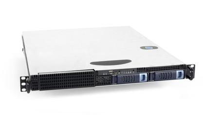 Server on white background
