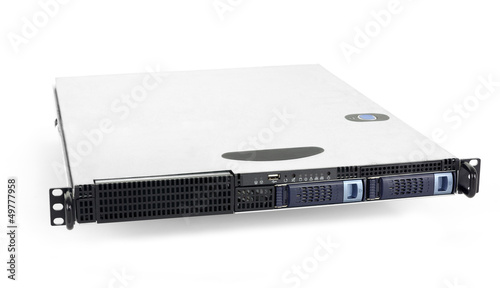 Server on white background