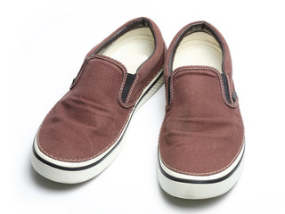 brown slip-on casual shoes