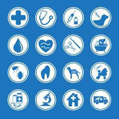 Icon for animal clinic and grooming