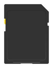 Flash card. Vector illustration