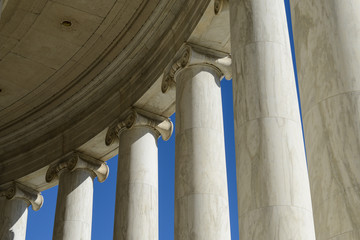 Pillars at the Jefferson Memorial