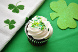 Top View of a Staint Patrick's Day Cupcake