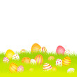 Easter Card Meadow Eggs Red/Yellow/Orange