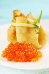 bag with caviar