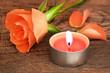 Rose und Kerze