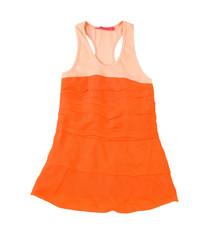 Sleeveless orange minidress