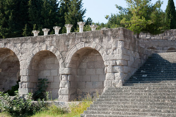 Kos, Asklepieion. The first terrace enclosed by a portico