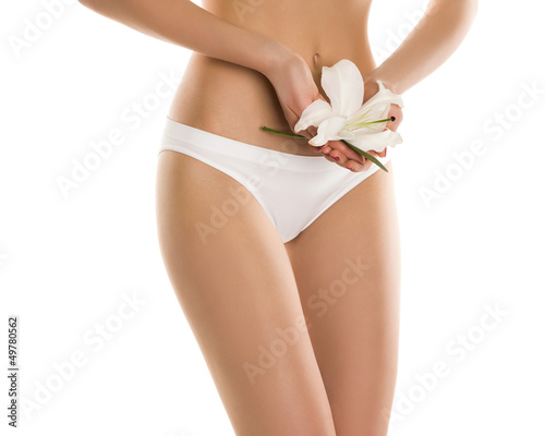 the body of a girl on a white background
