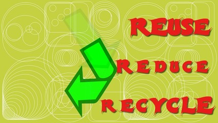 REUSE REDUCE RECYCLE 3 R RULE ENGLISH