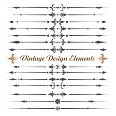 Set of calligraphic design elements .eps10