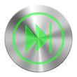 Edelstahl Vorwärts Button Grün