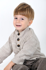 child on white background portrait