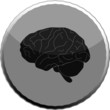 Brain Web Icon round