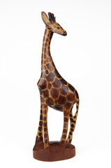 giraffa di legno