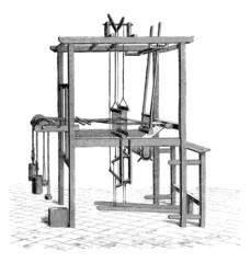 Loom - Métier à Tisser - Webstuhl - 19th century