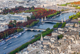 Seine river from the Eiffel Tower in Paris, France