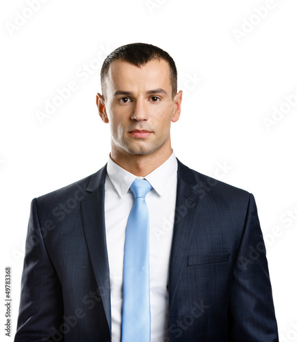 Portrait of successful manager, isolated on white