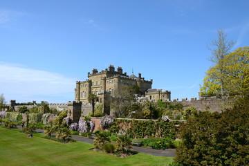 Culzean Castle in Ayrshire Scotland on a sunny day