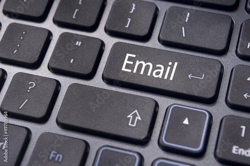 email concepts, messages on keyboard