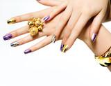 Fototapety Manicure. Fashion Metallic Nail polish