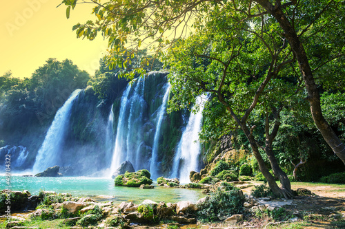 Plakat Wodospad w Wietnamie