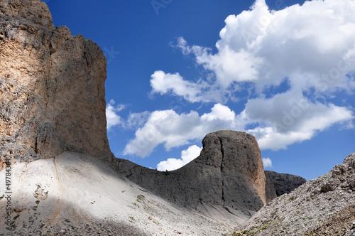 Camminando fra le rocce e le nuvole