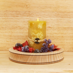 Candle and potpourri
