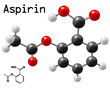 structural model of aspirin molecule
