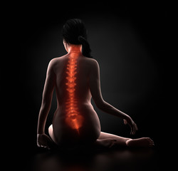 Female spine antomy concept