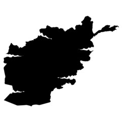 アフガニスタン 地図 シルエット