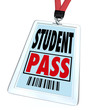 Student Pass in Badge Holder for School Field Trip Special Event
