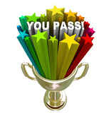 You Pass Stars Gold Trophy Accepted Approved