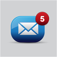 Letter icon App button email