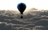 Fototapety air balloon on sky