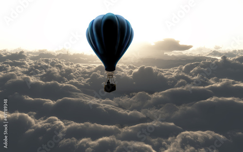 canvas print picture air balloon on sky