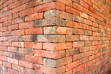 The red brick walls.