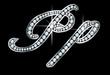 Script Diamond Bling Pp Letters