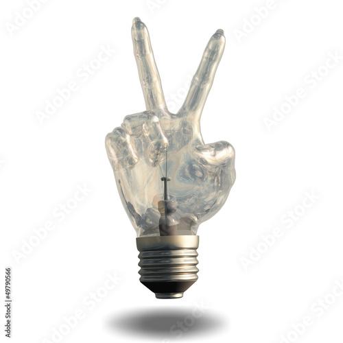 Peace Sign Light Bulb Idea