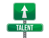 talent traffic road sign poster