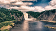 Colors of Montmorency Falls in Quebec