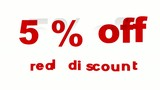 5% Off Real Discount promotional sign (looped)