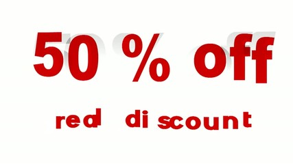 50% Off Real Discount promotional sign (looped)