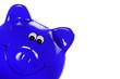 Blaues Sparschweinchen