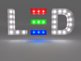 Light-emitting diode (LED) - sign on grey